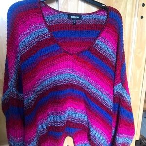 Express Multicolor Stripe Sweater